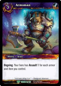 warcraft tcg throne of the tides armsman