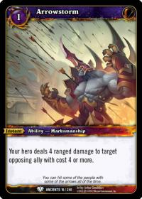 warcraft tcg war of the ancients arrowstorm