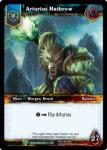 warcraft tcg foil hero cards arturius hathrow