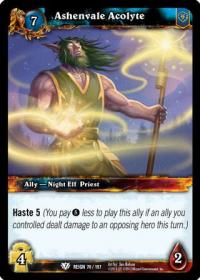 warcraft tcg reign of fire ashenvale acolyte