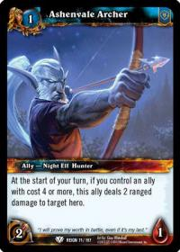 warcraft tcg reign of fire ashenvale archer
