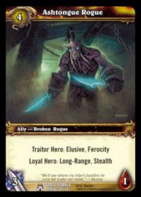 warcraft tcg black temple ashtongue rogue