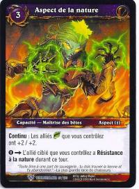 warcraft tcg worldbreaker foreign aspect of the wild french