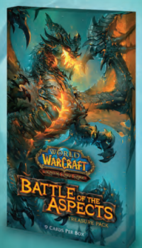 warcraft tcg warcraft sealed product battle of aspects treasure pack