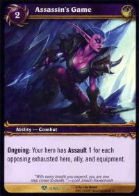 warcraft tcg icecrown citadel assassin s game