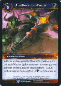 warcraft tcg throne of the tides french augment steel french
