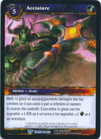 warcraft tcg throne of the tides italian augment steel italian