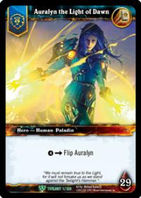 warcraft tcg foil hero cards auralyn the light of dawn foil hero