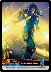 warcraft tcg twilight of the dragons auralyn the light of dawn