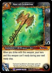 warcraft tcg war of the ancients axe of cenarius