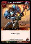 warcraft tcg foil hero cards ayaka winterhoof