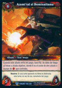 warcraft tcg twilight of dragons foreign azami tal the flamebender spanish