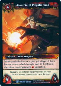 warcraft tcg twilight of dragons foreign azami tal the flamebender italian