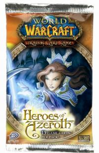 warcraft tcg warcraft sealed product heroes of azeroth booster pack