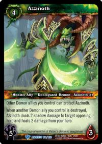 warcraft tcg war of the ancients azzinoth