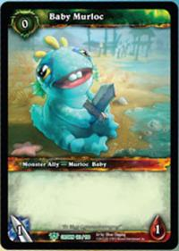 warcraft tcg foil and promo cards baby murloc foil