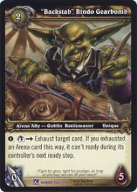 warcraft tcg fields of honor backstab bindo gearbomb