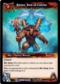 warcraft tcg war of the ancients baine son of cairne