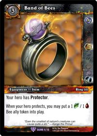 warcraft tcg crafted cards band of bees