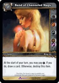 warcraft tcg crafted cards band of channeled magic