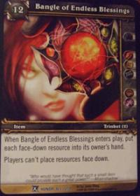 warcraft tcg fields of honor bangle of endless blessings