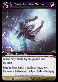 warcraft tcg archives banish to the nether foil