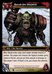 warcraft tcg heroes of azeroth barak the shamed