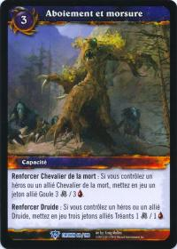 warcraft tcg crown of the heavens foreign bark and bite french