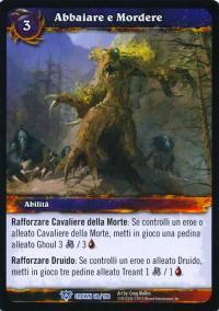 warcraft tcg crown of the heavens foreign bark and bite italian