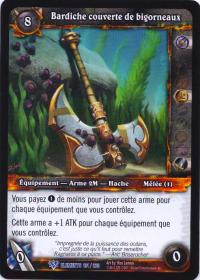 warcraft tcg war of the elements french barnacle coated greataxe french