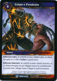 warcraft tcg crown of the heavens foreign bash and slash italian