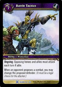 warcraft tcg drums of war battle tactics