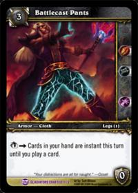warcraft tcg crafted cards battlecast pants
