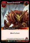 warcraft tcg foil hero cards baxxel geartooth