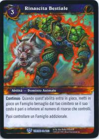 warcraft tcg throne of the tides italian bestial revival italian