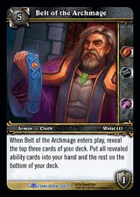 warcraft tcg the dark portal belt of the archmage