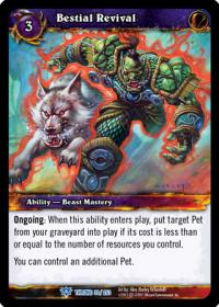 warcraft tcg throne of the tides bestial revival