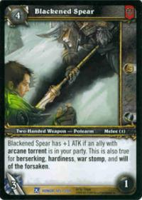 warcraft tcg fields of honor blackened spear