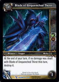 warcraft tcg march of legion blade of unquenched thirst