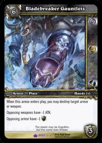warcraft tcg crafted cards bladebreaker gauntlets