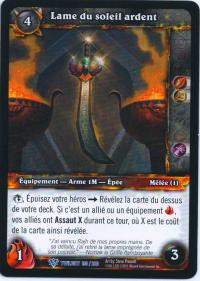 warcraft tcg twilight of dragons foreign blade of the burning sun french