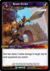warcraft tcg reign of fire blade strike