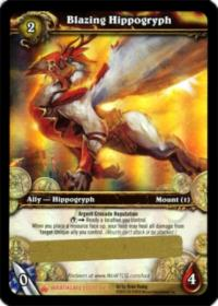 warcraft tcg loot cards blazing hippogryph loot