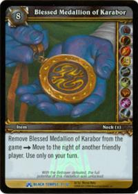 warcraft tcg black temple blessed medallion of karabor