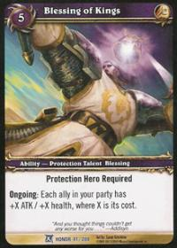 warcraft tcg fields of honor blessing of kings