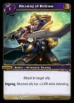 warcraft tcg icecrown citadel blessing of defense alternate art