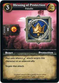wow minis core action cards blessing of protection