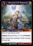 warcraft tcg throne of the tides blessing of the righteous