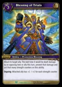 warcraft tcg icecrown citadel blessing of trials alternate art