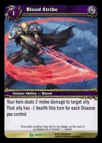 warcraft tcg death knight starter blood strike